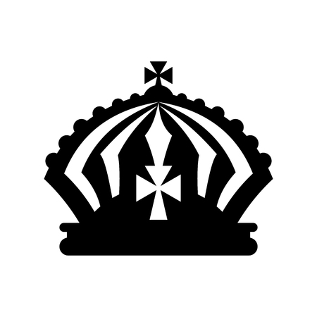 Crown icon in simple style isolated on white Stock Photo - 107753577