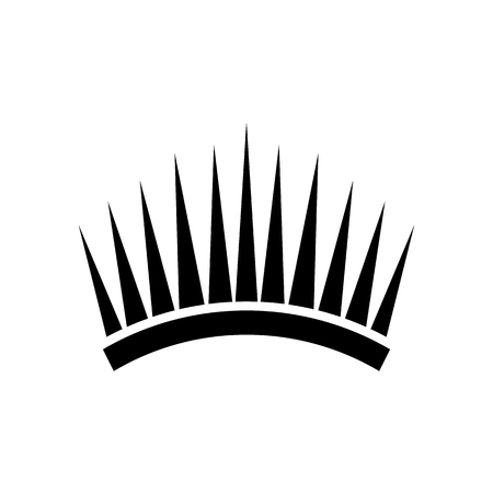Crown icon in simple style isolated on white