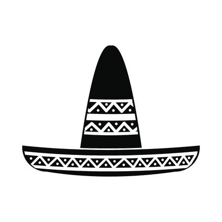 Sombrero icon, simple style