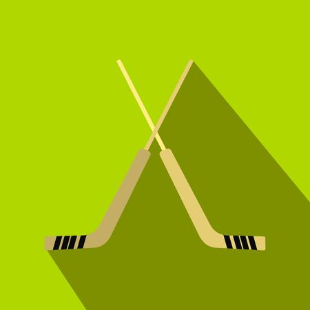 Hockey icon, flat style