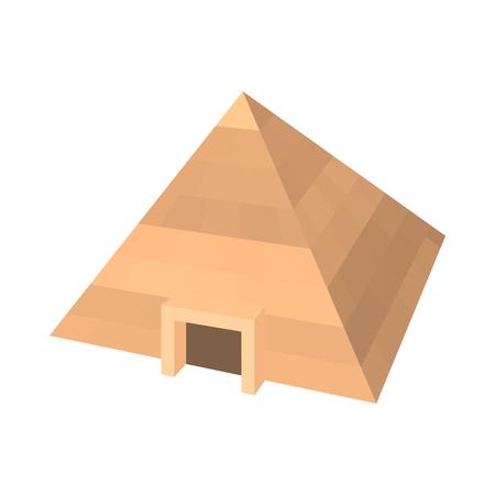 Pyramid of Egypt icon, cartoon style
