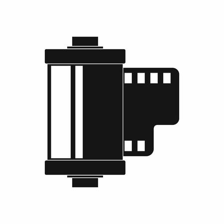 Kamerarollensymbol, einfacher Stil Standard-Bild