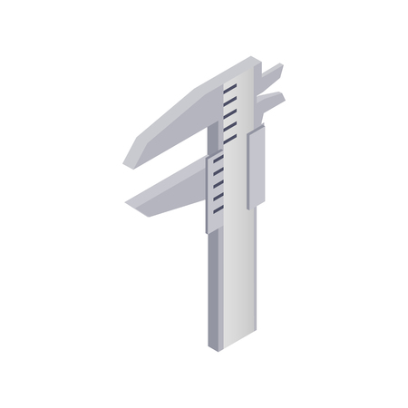 Calipers icon, isometric 3d style