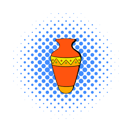 Egyptian vase icon in comics style