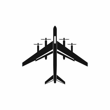 Fighter plane icon, simple style
