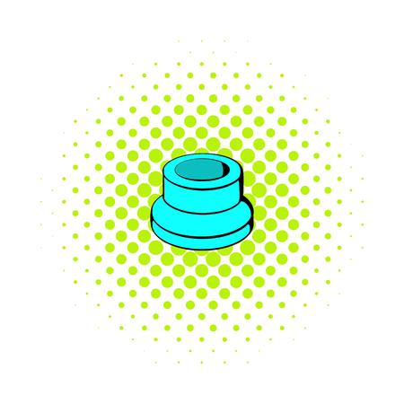 Vaporizer component icon, comics style