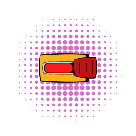Toggle switch in No position icon, comics style