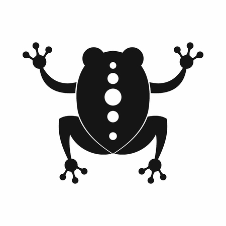 Frog icon, black simple style Stock Photo
