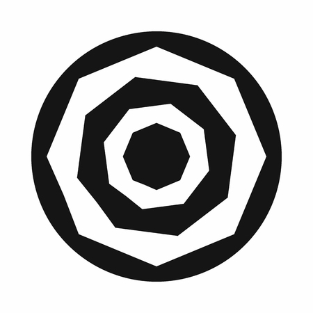 Camera shutter aperture icon, simple style 版權商用圖片