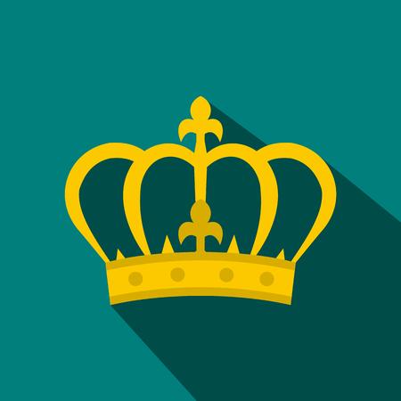 Crown icon in flat style Stok Fotoğraf