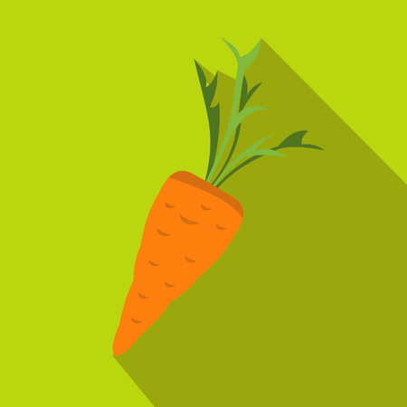 Carrot icon in flat style