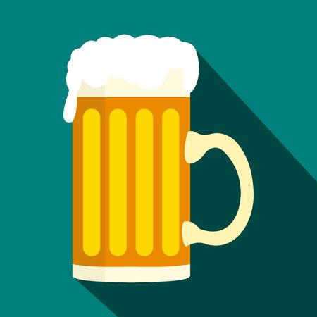Mug of beer icon in flat style Reklamní fotografie