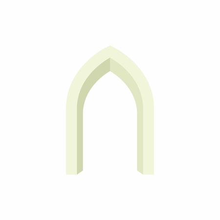 Gothic portal icon in cartoon style