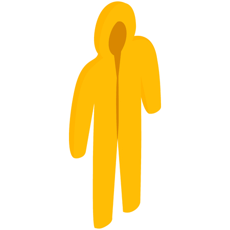 Yellow biohazard protective suit icon