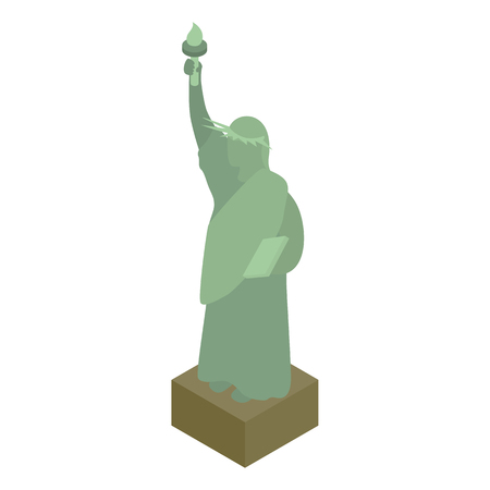 Statue of liberty icon, isometric 3d style Stok Fotoğraf