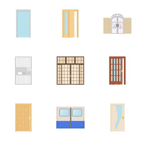 Opening icons set. Cartoon illustration of 9 opening icons for web