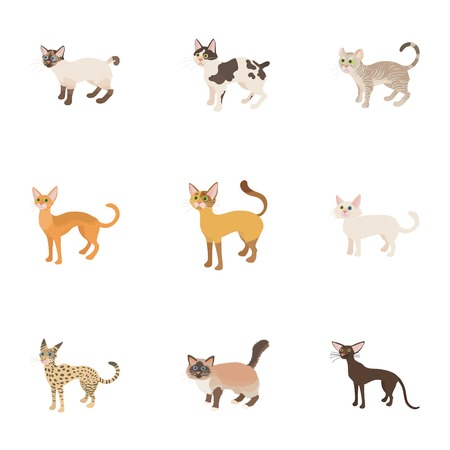 Furry friend icons set. Cartoon illustration of 9 furry friend icons for web Stock Photo