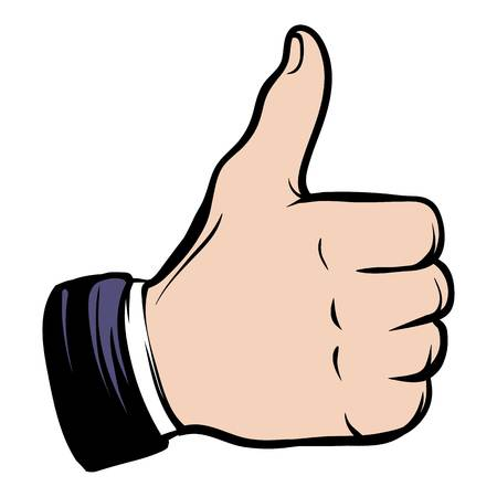 Hand doing a thumb up icon cartoon