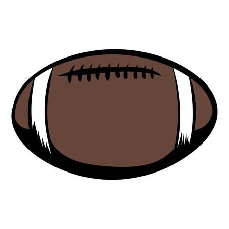 American football icon cartoon Stock Photo