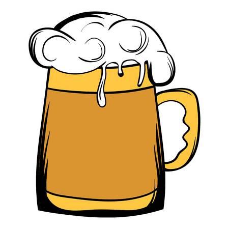 Beer mug icon cartoon