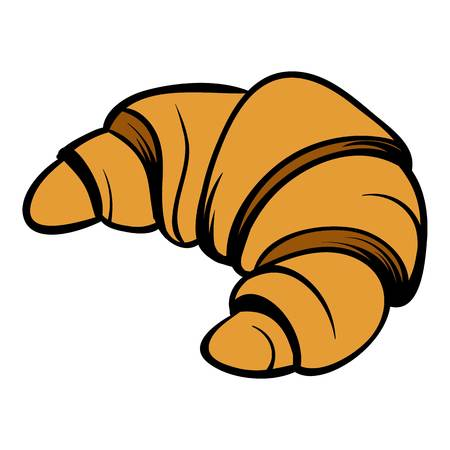 Croissant icon cartoon Stock Photo