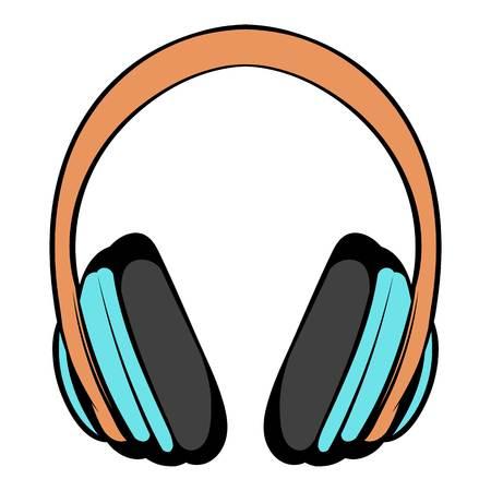 Big headphones icon cartoon Imagens