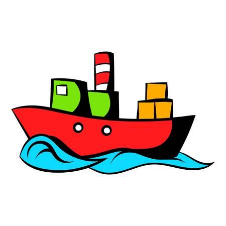 Dry cargo icon cartoon