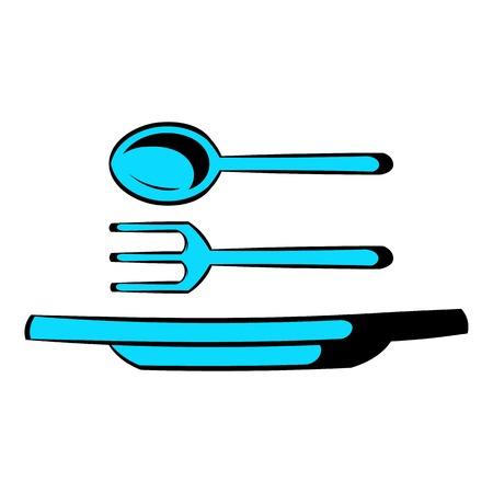 Utensils icon cartoon