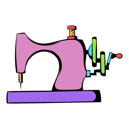Icona della macchina da cucire, fumetto icona