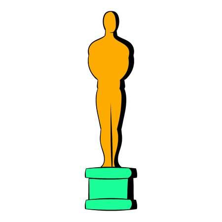 Gold Man statue icon, icon cartoon