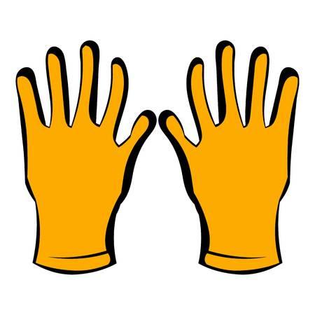 Gloves of beekeeper icon, icon cartoon