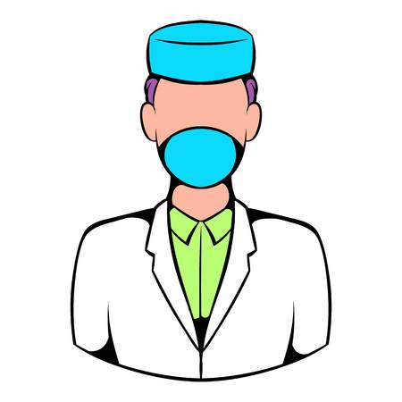 Doctor icon, icon cartoon Stock Photo