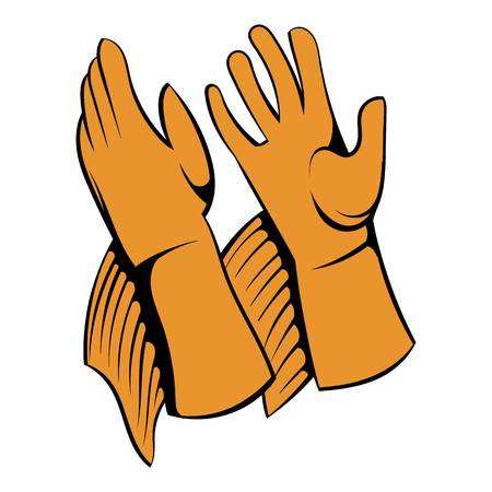 Rancher gloves icon, icon cartoon