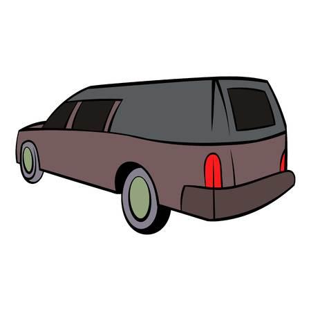 Hearse icon, icon cartoon Stock Photo