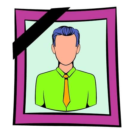 Photo of deceased icon, icon cartoon Stock Photo