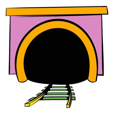 Tunnel icon, icon cartoon