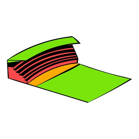 Stadium icon in icon in cartoon style isolated illustration