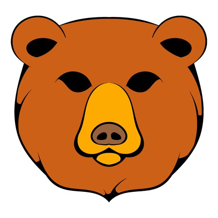 Head of bear icon in cartoon style isolated illustration 写真素材