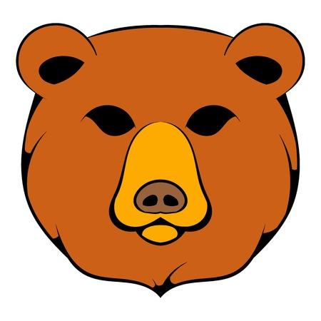 Head of bear icon in cartoon style isolated illustration Stock Photo