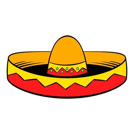 Sombrero icon in cartoon style isolated illustration Stock Photo