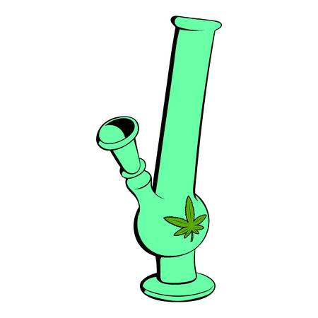 Bong for smoking icon in cartoon style isolated illustration Stock Photo
