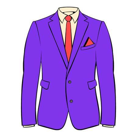 Men jacket with shirt icon in cartoon style isolated illustration Stock Illustration - 107907811