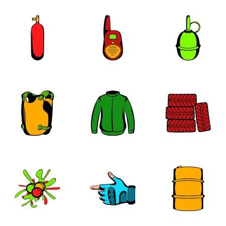 Ammunition icons set. Cartoon illustration of 9 ammunition icons for web