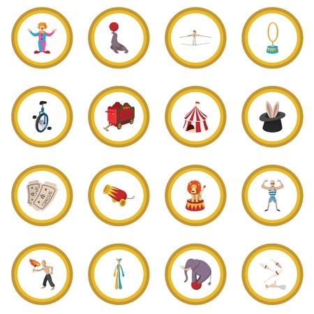 Circus show icon circle