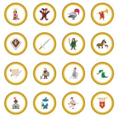 Medieval cartoon icon circle