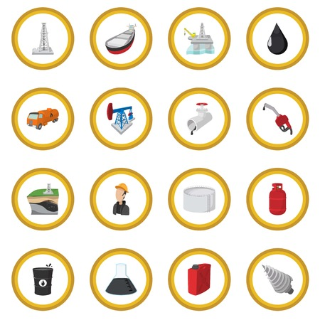 Oil industry cartoon icon circle
