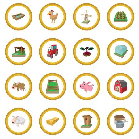 Farm cartoon icon circle