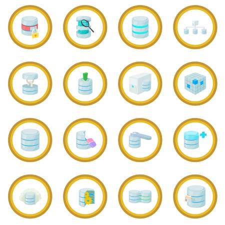 Data base icon circle Stock Photo