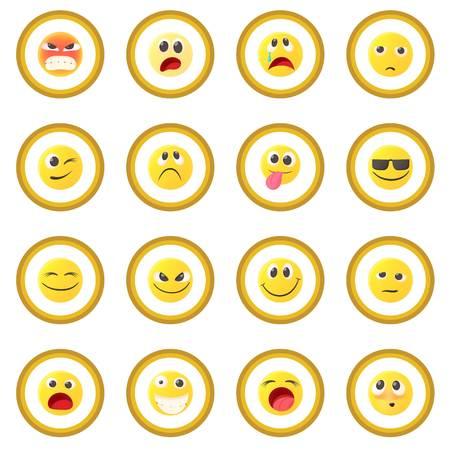 Emoticon icon circle Stock Photo