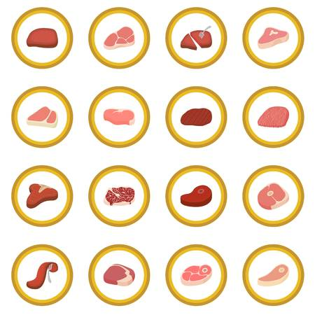 Steak icon circle Stock Photo